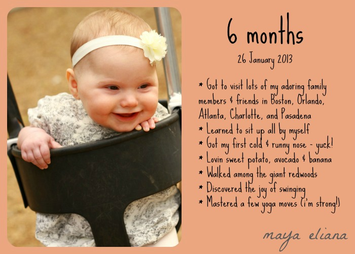 6 Month Photo
